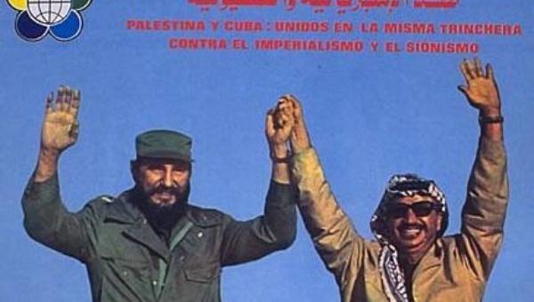 Fidel Castro et Yasser Arafat