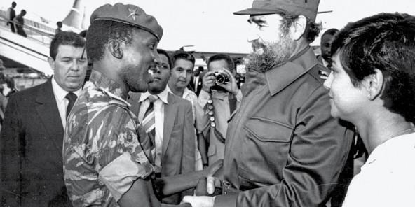 Thomas Sankara et Fidel Castro
