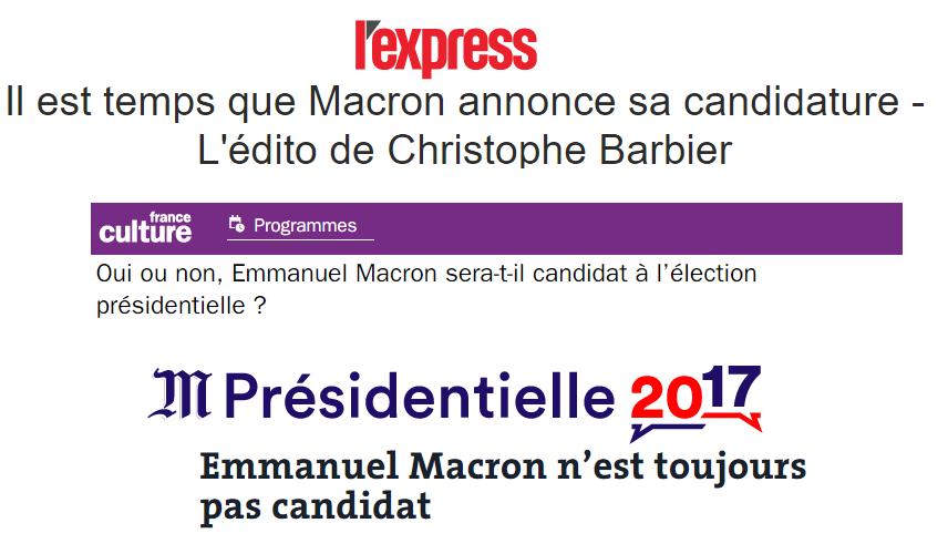 Macron candidat 1