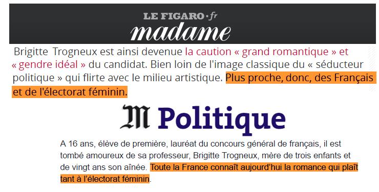 Macron (le monde et le figaro)