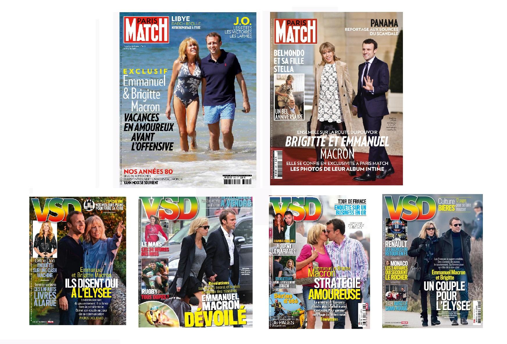Macron - presse people