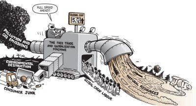 Caricature de la mondialisation