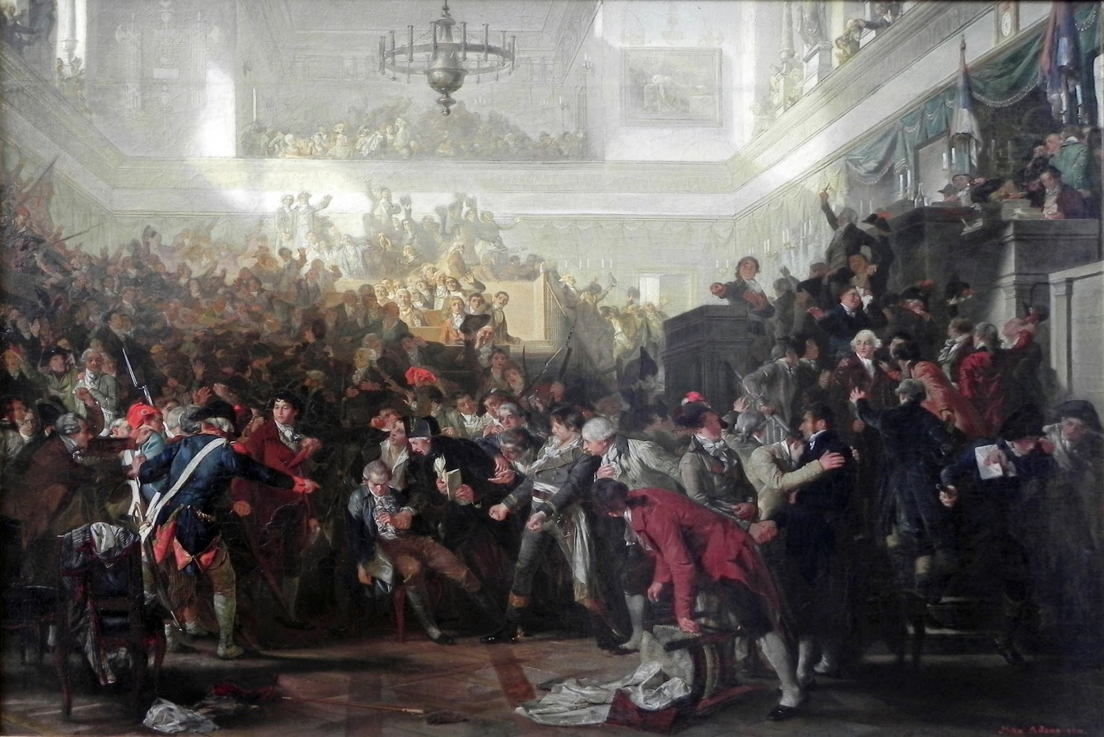 L'arrestation de Robespierre à l'Assemblée Nationale.