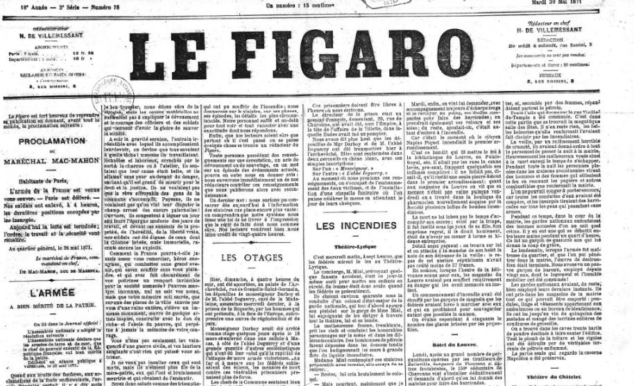 La responsabilité de la presse dans la répression de la Commune de Paris