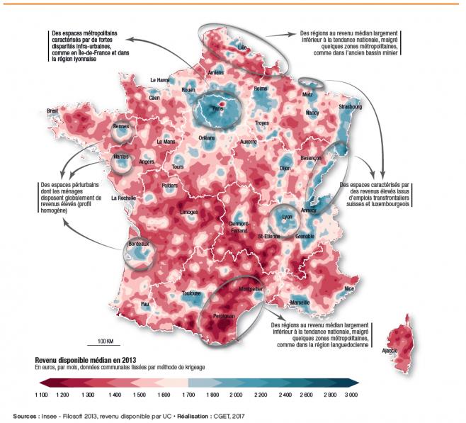 Les trois France : entre périphéries et métropoles