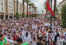 Manifestants au Maroc @BettyKaoutar