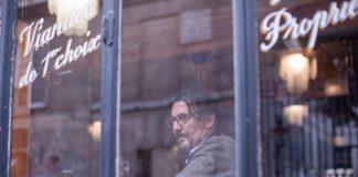 David Dufresne au restaurant Polidor, à Paris. ©Ulysse Guttmann-Faure pour Le Vent Se Lève.