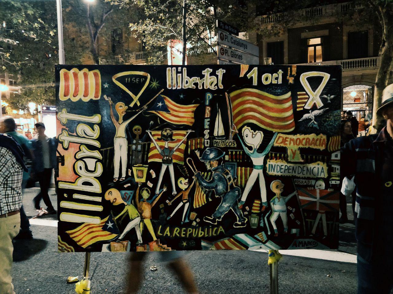 Tableau indépendantistes catalans