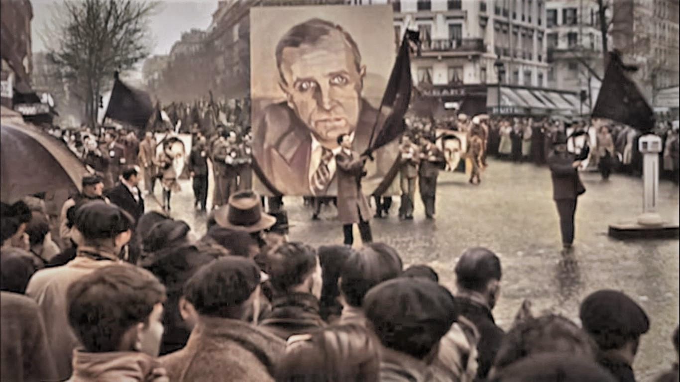 Capture d'écran de l'enterrement de Croizat