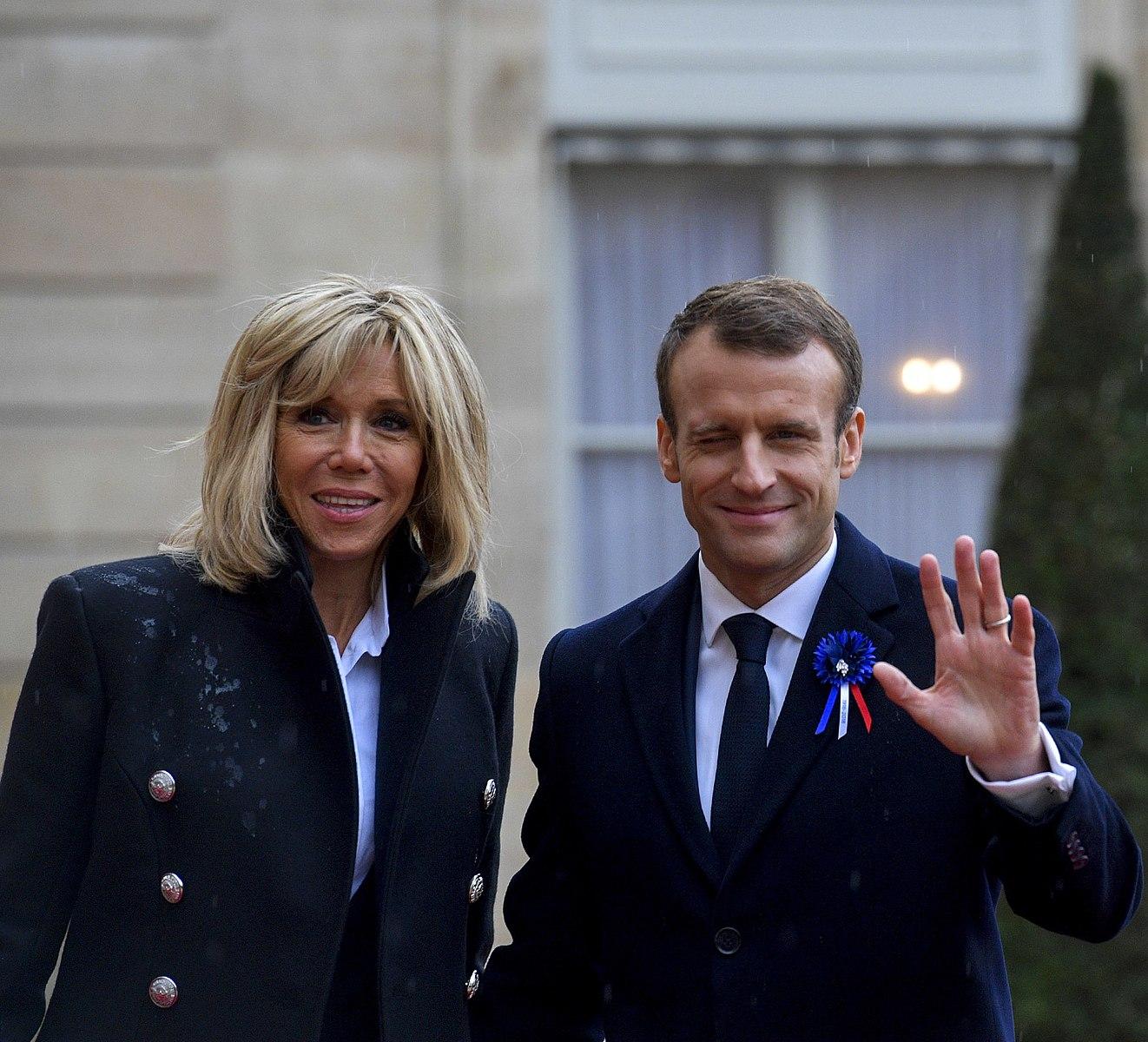 https://commons.wikimedia.org/wiki/File:Brigitte_Macron_and_Emmanuel_Macron_-_November_2018_(1541931666)_(cropped).jpg