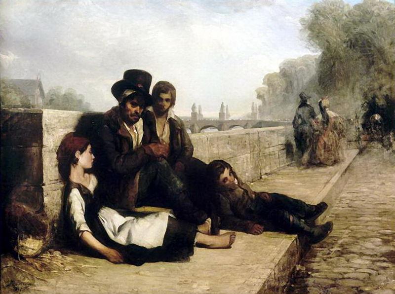Scène sur les quais de Paris, 1833