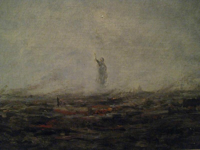 Le Rêve, Paris incendié de Corot, tableau impressioniste de 1870 dans lequel Corot imagine Paris ayant été brûlé par les Prussiens